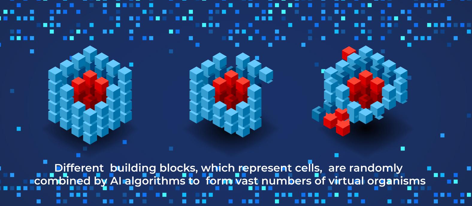 AI designed virtual organisms